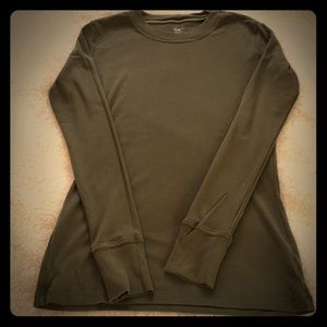 Gap super soft t shirt in a military green color.